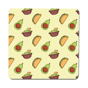 Mexican food pattern design funny illustration coaster drink mat - Graphic Gear