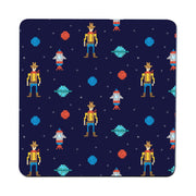 Space cowboy pattern design illustration coaster drink mat - Graphic Gear