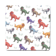 T-rex colorful pattern design funny illustration coaster drink mat - Graphic Gear