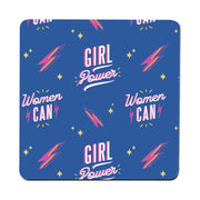 Women can women's day pattern coaster drink mat - Graphic Gear