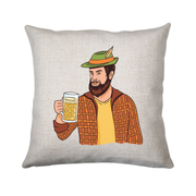 Hipster man with beer cushion cover pillowcase linen home decor