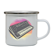 Synthesizer Retro enamel camping mug outdoor cup colors