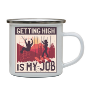 Getting High enamel camping mug outdoor cup colors