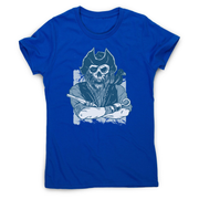 Skeleton pirate women's t-shirt