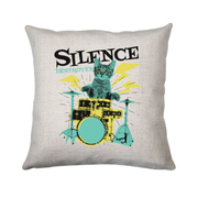 Silence destoyer cat playing drums cushion cover pillowcase linen home decor