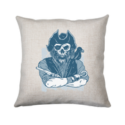 Skeleton pirate cushion cover pillowcase linen home decor