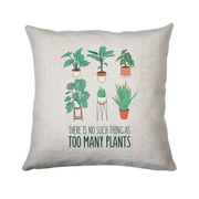 Too many plants cushion cover pillowcase linen home decor