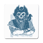 Skeleton pirate coaster drink mat