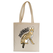 Savannah Cat tote bag canvas shopping