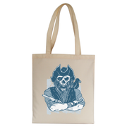 Skeleton pirate tote bag canvas shopping
