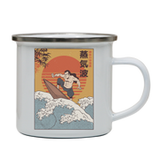 Samurai Surfing enamel camping mug outdoor cup colors