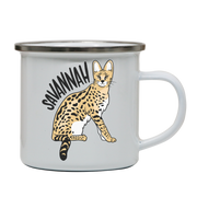 Savannah Cat enamel camping mug outdoor cup colors