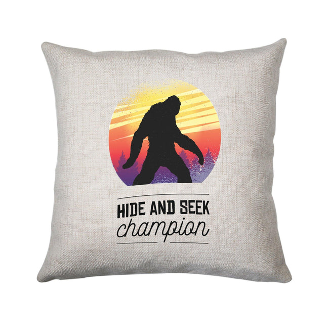 Bigfoot hide & seek champion funny cushion cover pillowcase linen home decor - Graphic Gear