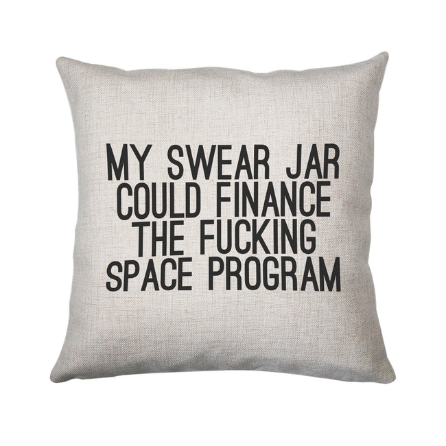 My swear jar funny rude offensive cushion cover pillowcase linen home decor - Graphic Gear