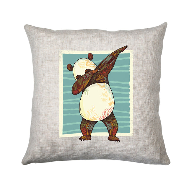 Panda dabbing funny Cushion cover pillowcase linen home decor - Graphic Gear