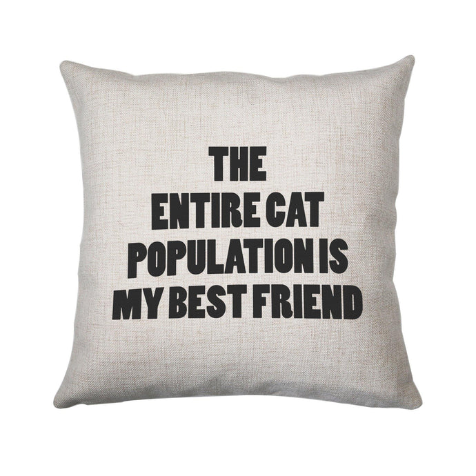 The entire cat population funny cushion cover pillowcase linen home decor