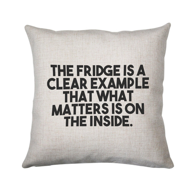The fridge is a clear example funny foodie cushion cover pillowcase linen home decor