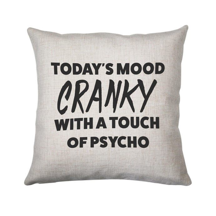 Today's mood cranky funny rude offensive cushion cover pillowcase linen home decor
