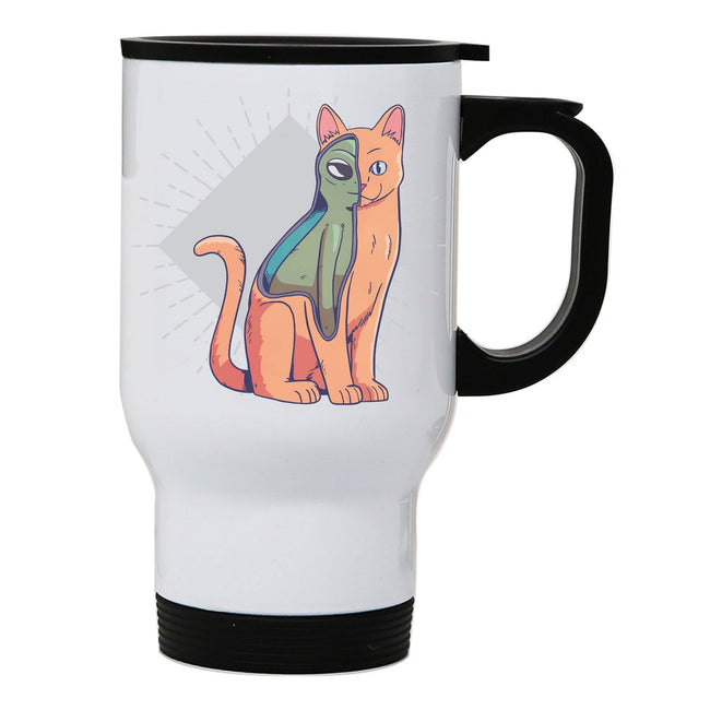 Alien cat funny costume stainless steel travel mug eco cup