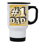 Number 1 dad funny fathers day stainless steel travel mug eco cup