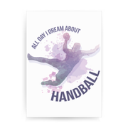 Handball quote playing print poster wall art decor