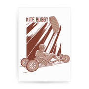 Kite buggy print poster wall art decor