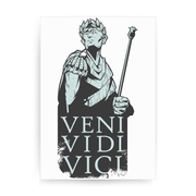Veni vidi vici Julius Ceasar quote print poster wall art decor