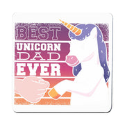 Best unicorn dad funny fathers day coaster drink mat