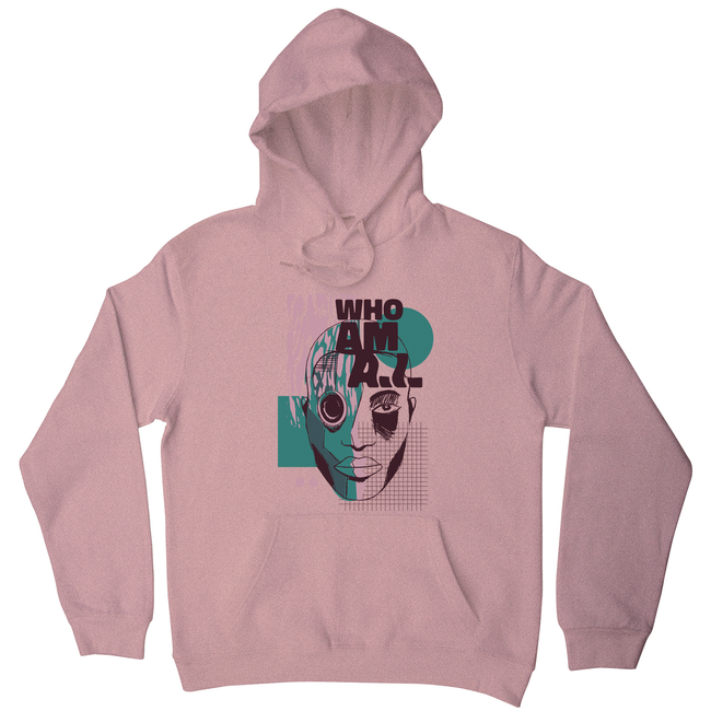 Who am I quote abstract hoodie
