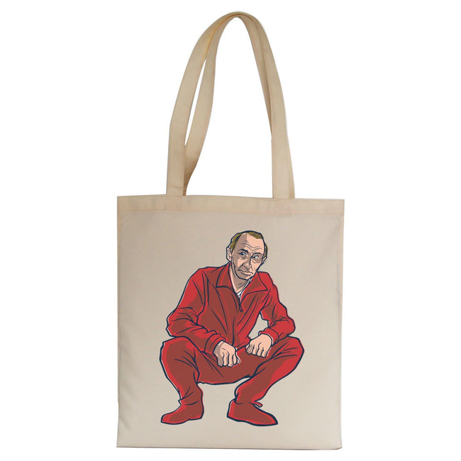 Vladimir Putin funny political Russia tote bag canvas shopping