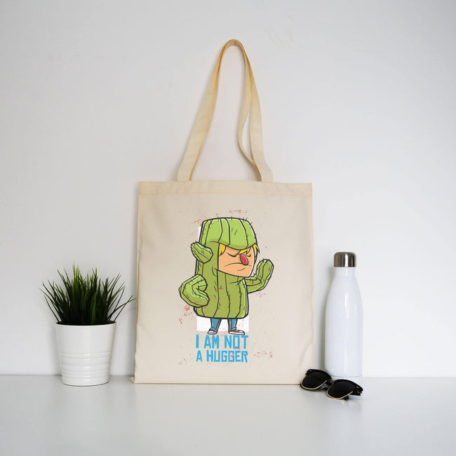 Cactus costume hug funny tote bag canvas shopping