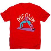 Meow yoga men's t-shirt - Graphic Gear