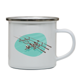 Fishing Rods enamel camping mug outdoor cup colors