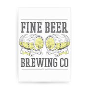 Brewing co beer print poster wall art decor