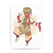 Peruvian scissor dancer print poster wall art decor