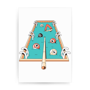 Pool pun game print poster wall art decor