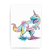 Watercolor unicorsaurus print poster wall art decor