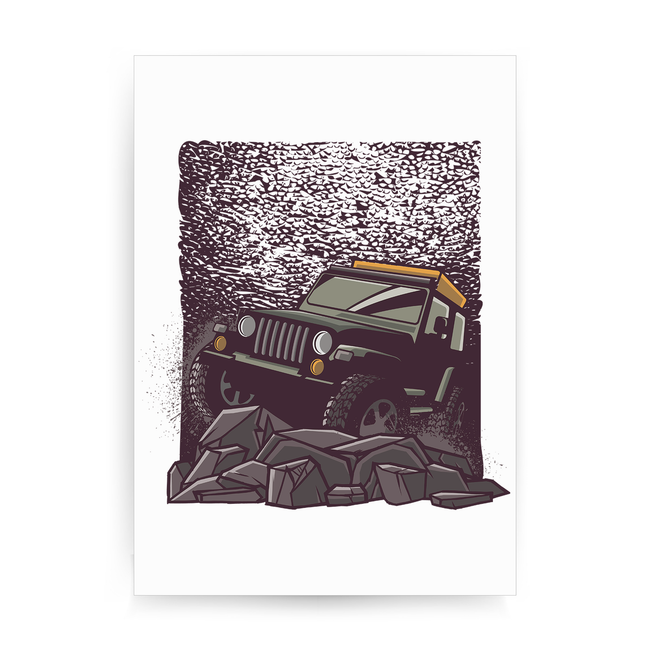 Rocky road jeep print poster wall art decor