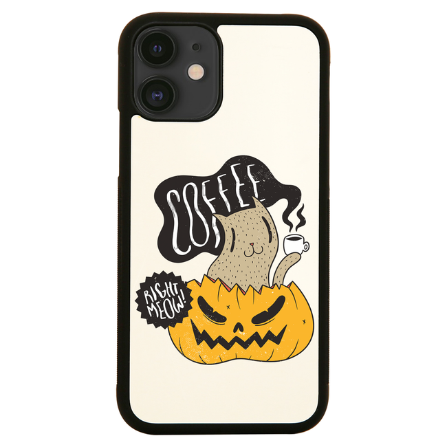 Coffee right meow drinking halloween iPhone case cover 11 11Pro Max XS XR X - Graphic Gear
