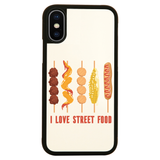 Street food love iPhone case cover 11 11Pro Max XS XR X - Graphic Gear