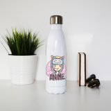 Anime cute girl water bottle stainless steel reusable