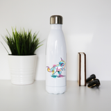Watercolor unicorsaurus water bottle stainless steel reusable - Graphic Gear