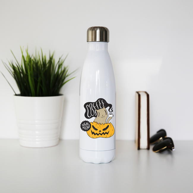 Coffee right meow drinking halloween water bottle stainless steel reusable