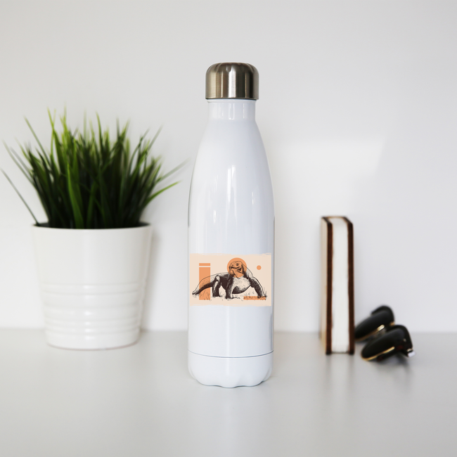 Komodo Dragon water bottle stainless steel reusable - Graphic Gear