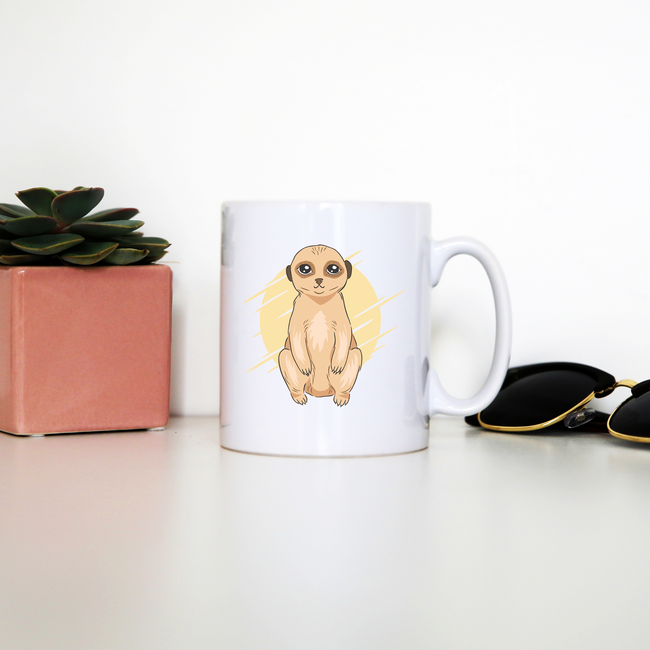 Cute Meerkat mug coffee tea cup - Graphic Gear