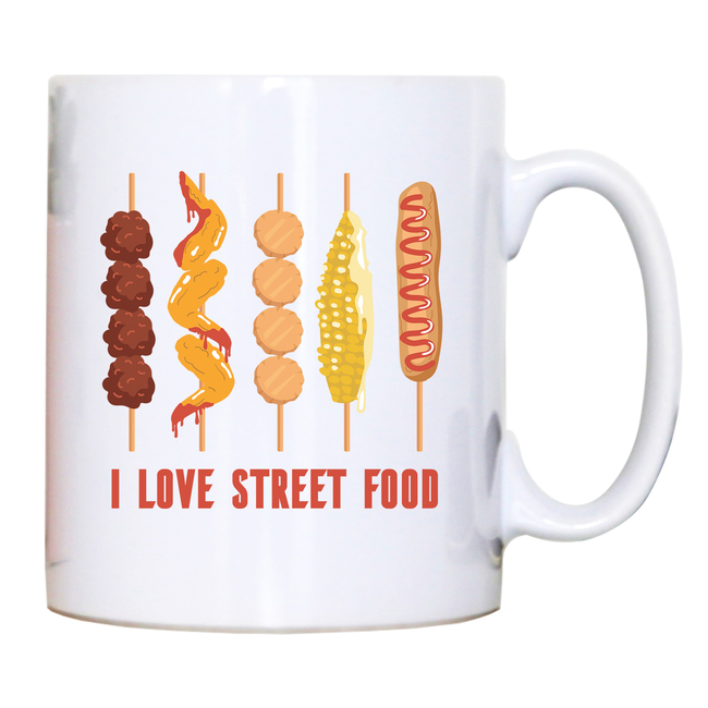 Street food love mug coffee tea cup - Graphic Gear