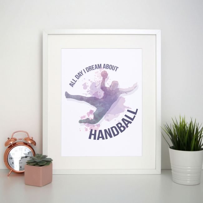 Handball quote playing print poster wall art decor - Graphic Gear