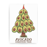 Avocado christmas tree print poster wall art decor