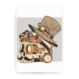 Skull steampunk print poster wall art decor - Graphic Gear