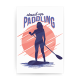 Stand up paddling print poster wall art decor